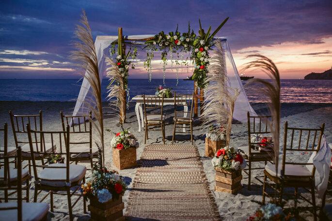 JLPlanner-Wedding Planner camino altar playa santa marta