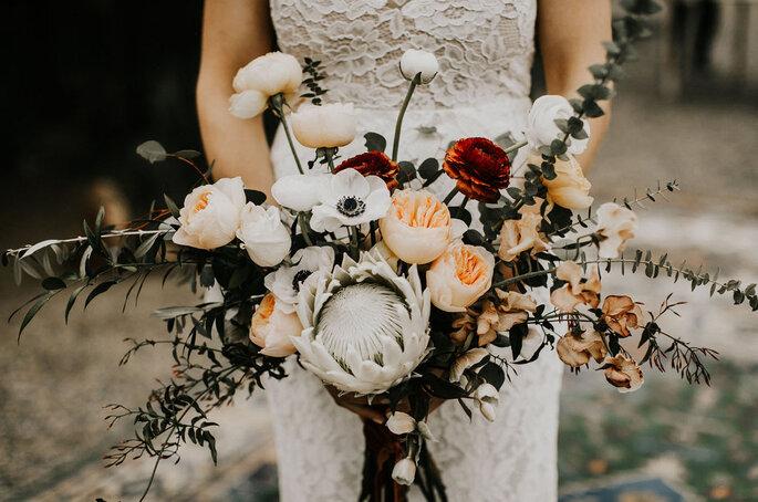 Ramo de flores para novia romántica