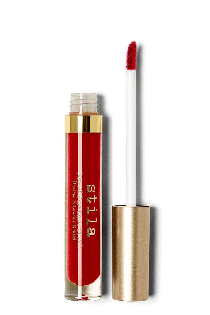 Maquillaje para labios rojos Stila