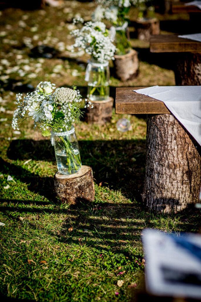 Centre de table de mariage champêtre