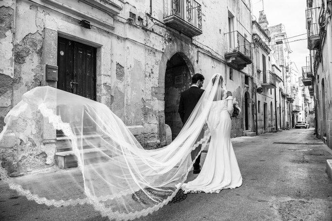 Nicola Centoducati - sposi e velo con strascico