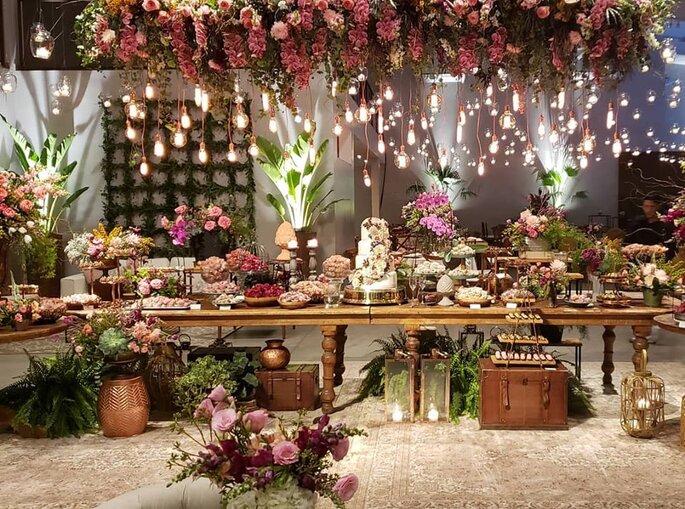 Mesa de doces casamentos