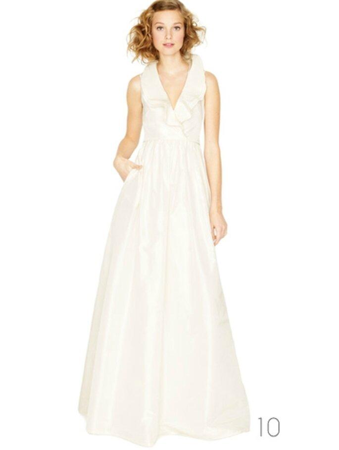 Vestido de novia con cuello estilo halter - Foto: JCrew Wedding Collection 2012
