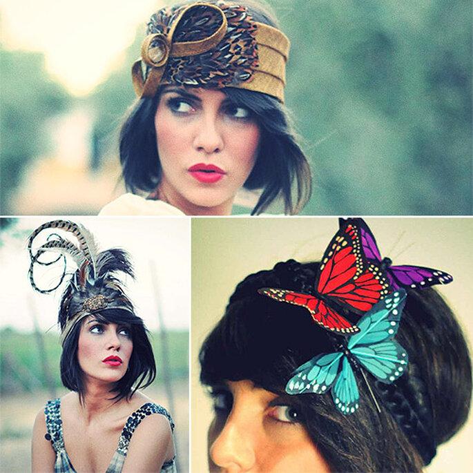 'Look' años 20 y diadema con mariposas a lo Kate Middleton, de Cherubina