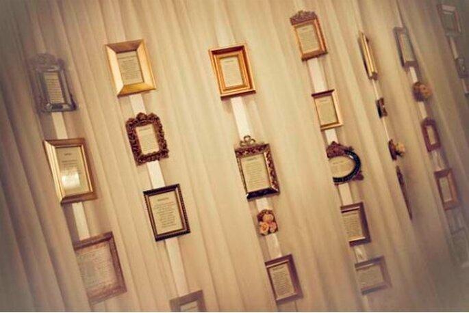 Plan de table de mariage : jouez l'originalité ! - Source : Bride goggles
