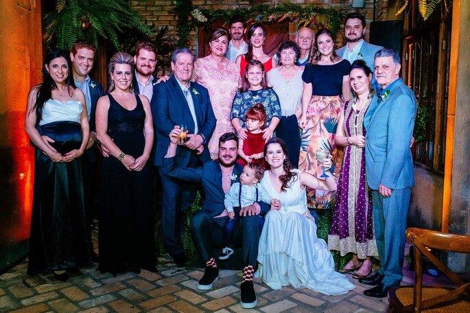 Família noivos