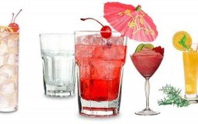 Diferentes opciones de bebidas para tu boda