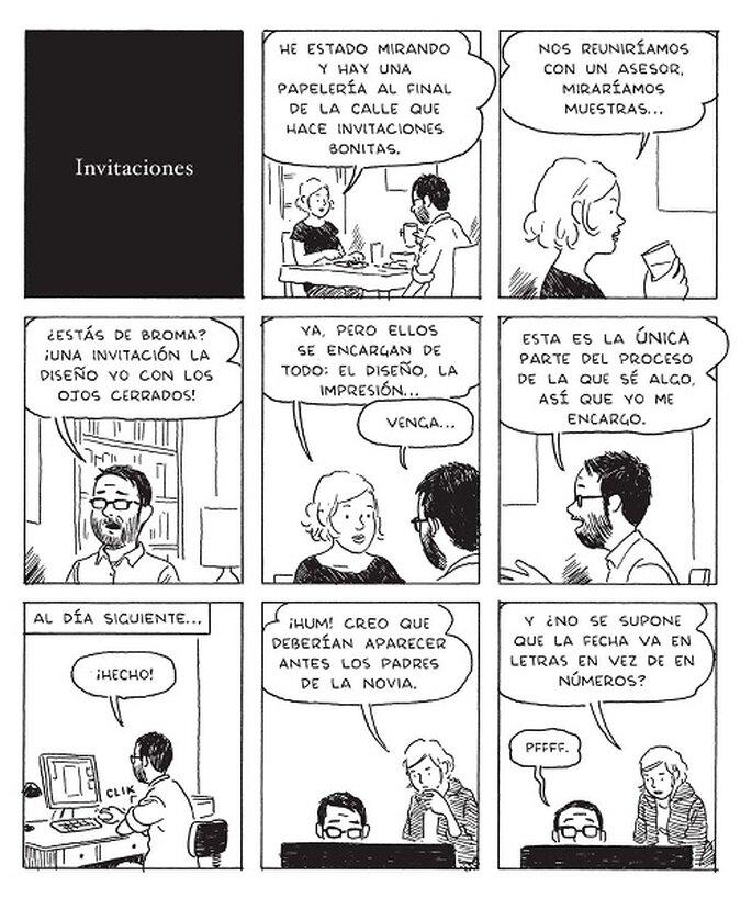 Conflicto entre el diseño personal o profesional de las invitaciones. Foto: Editorial Sins entido.
