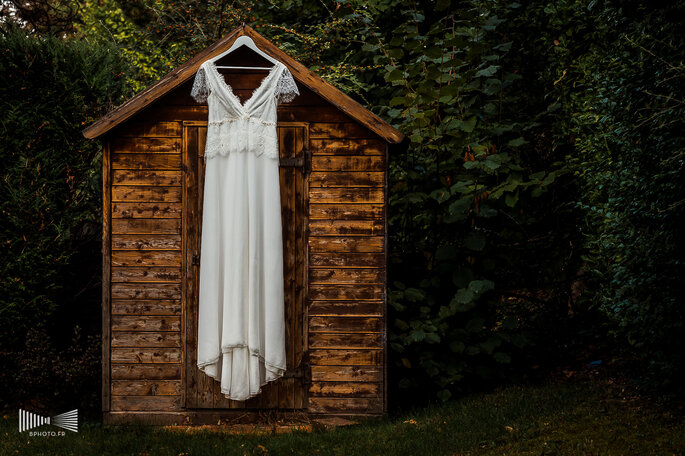 Photo : Benjamin Brette - Robe de mariée : Elsa Gary