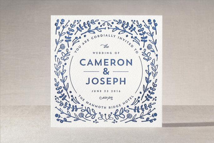 Una boda en azul clásico - Minted