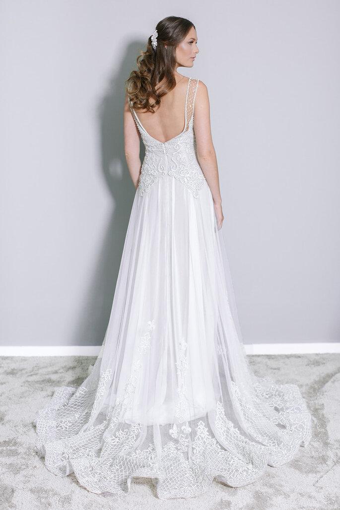 Bordado vestido de noiva