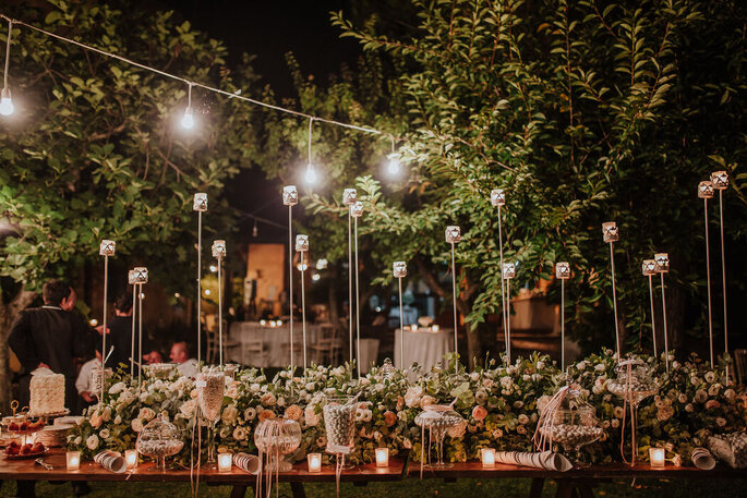 Baccarà Eventi - allestimento tavoli nuziali