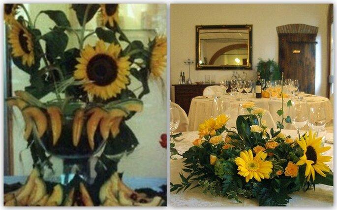 Tavoli Matrimonio Girasoli : Un matrimonio tinto di giallo decorare con i girasoli