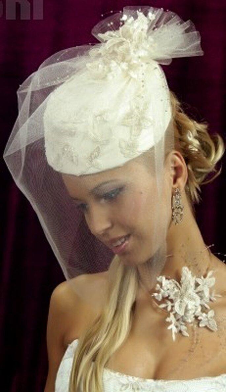 Cappello da sposa romantico