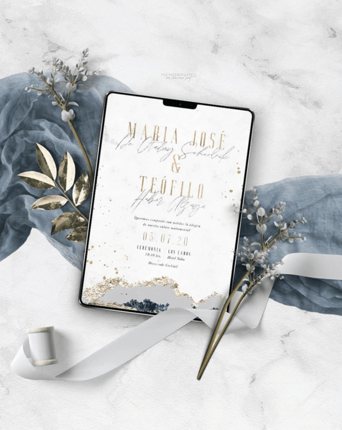 Menospapel invitaciones de boda Ciudad de México