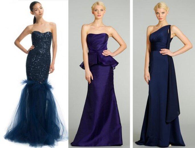 Vestidos de gala en color azul marino de moda en 2013 - Foto Moda Operandi y JLM Couture