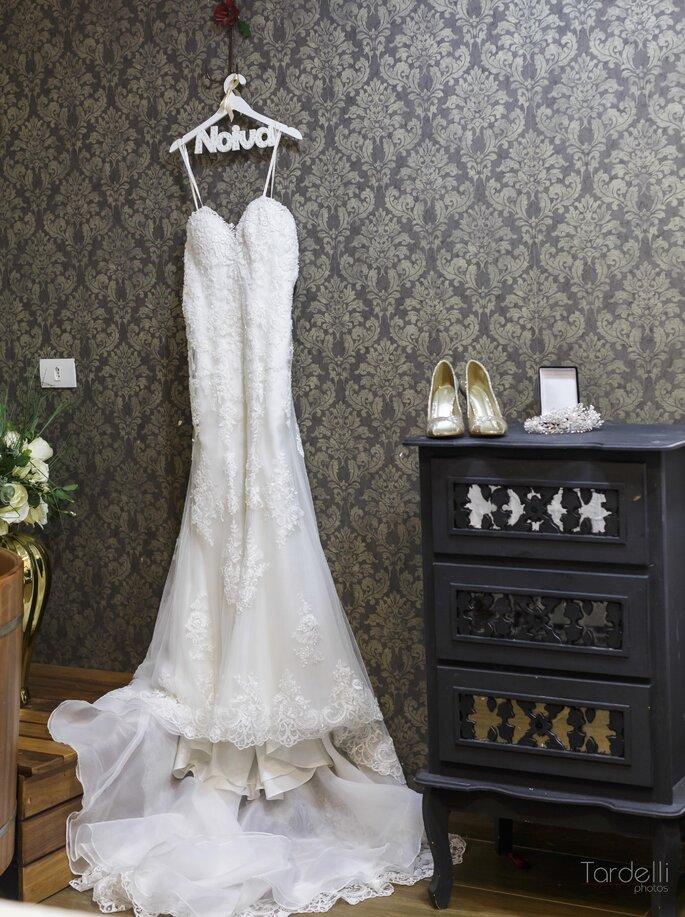 Vestido de noiva com decota coração