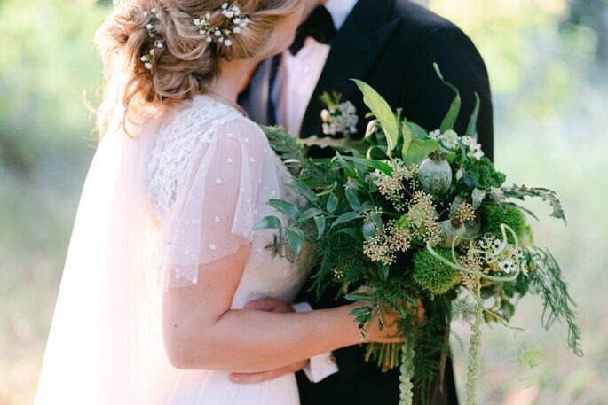 Séance photo d'un mariage en hiver