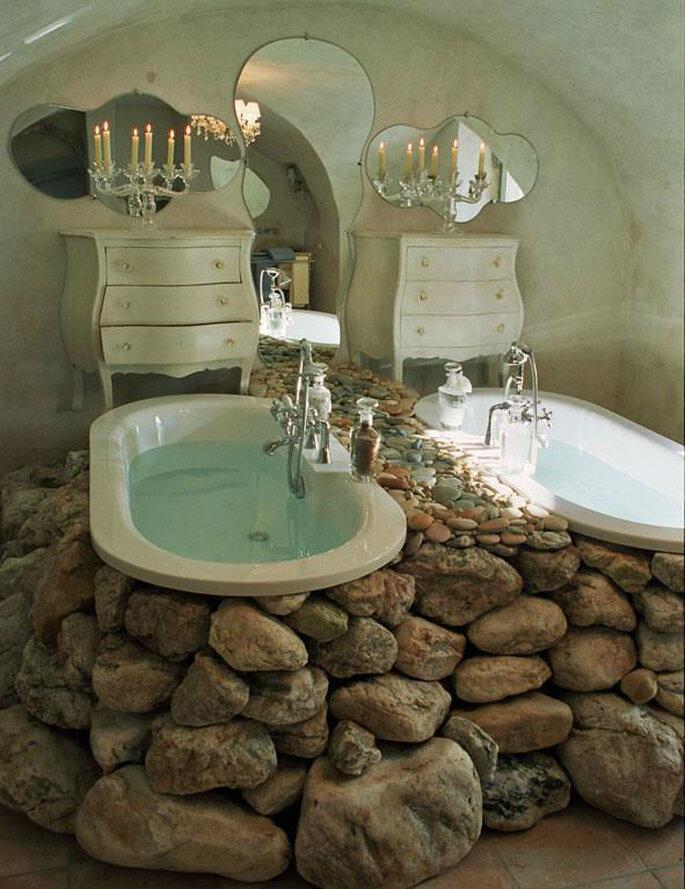 Une salle de bain à la décoration hors du commun
