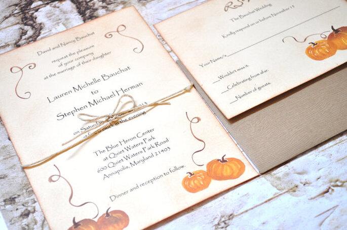 Hochzeitseinladung Halloween