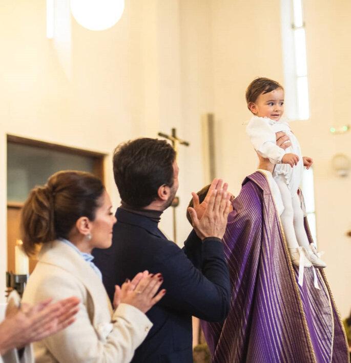Dânia Neto batizou o filho Salvador
