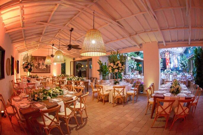 Hacienda Del Bosque Decoración fresca para boda