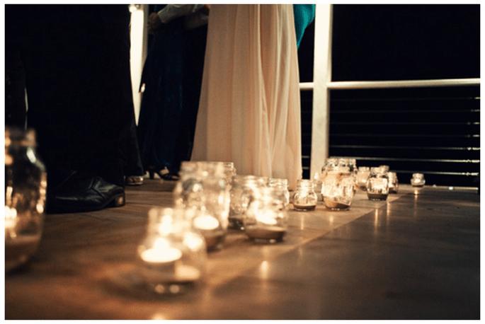 Decoración de boda con velas - Foto Todd Hunter McGaw Photoraphy