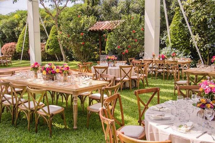 Decoración del banquete de la boda