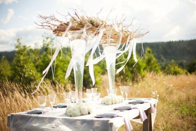 Ideen für eine rustikale Hochzeitsdekoration