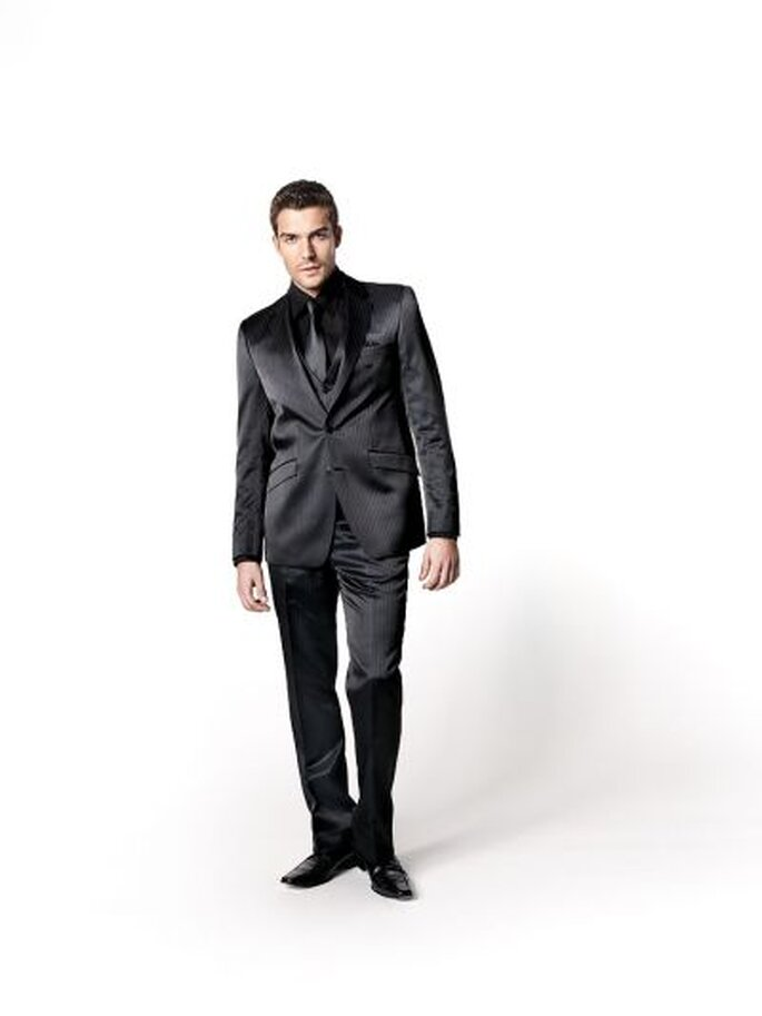 elegante schwarze Herrenschuhe zum Anzug von WILVORST TZIACCO - Foto: http://www.wilvorst.de