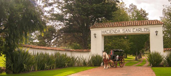 Hacienda San Carlos carruaje para bodas