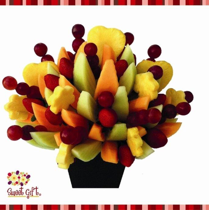 Centros de mesa frutales. Foto de Sweet Gift