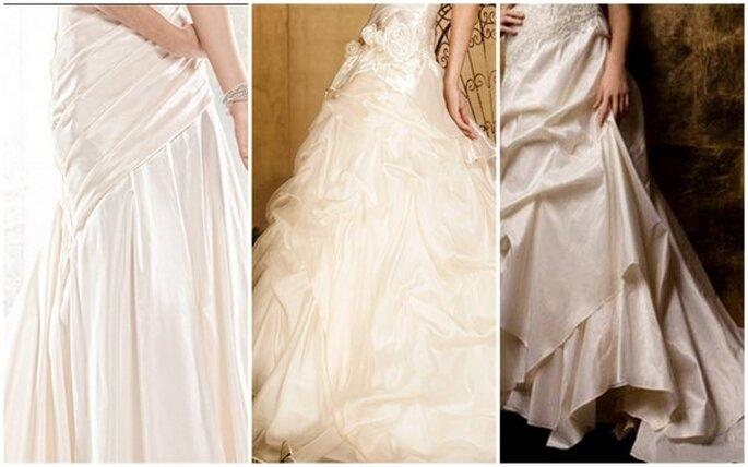 Los detalles de las faldas: telas de gasa que evocan feminidad