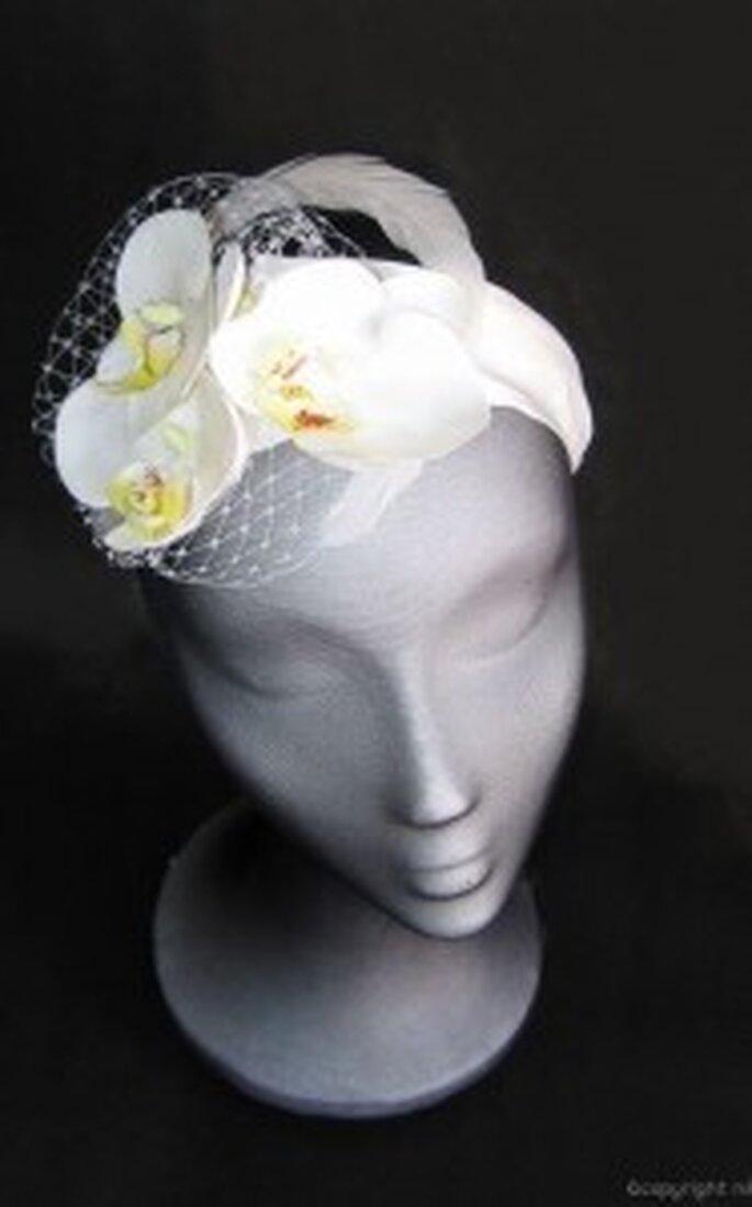 Tocado de novia de Nila Taranco - Phalenopsis