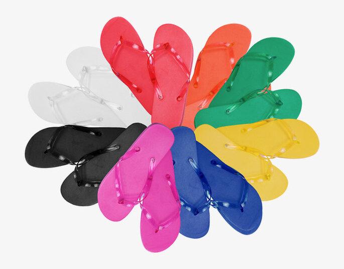 Chanclas de colores