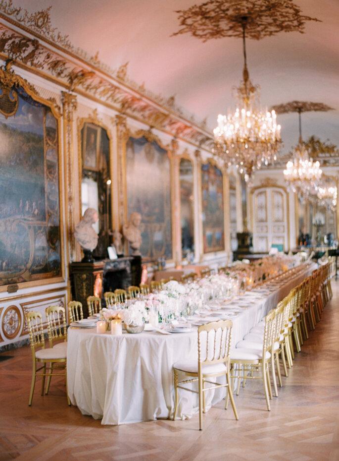 Decoración con mesas imperiales