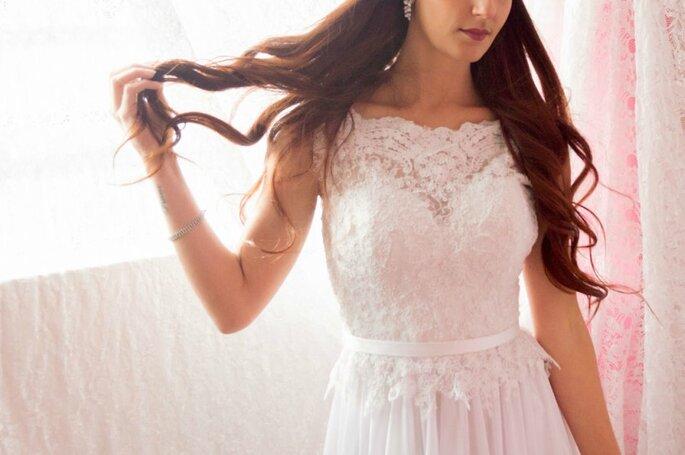 Detalhe de vestido de noiva Márcia Martins Noivas