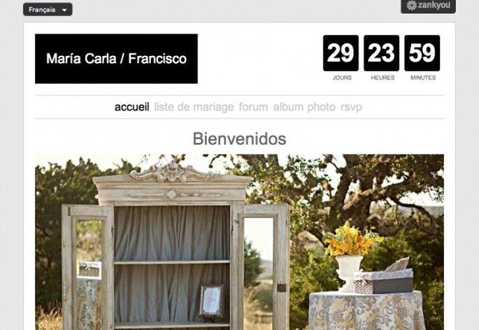 Создайте свадебный сайт на интересующем вас языке.