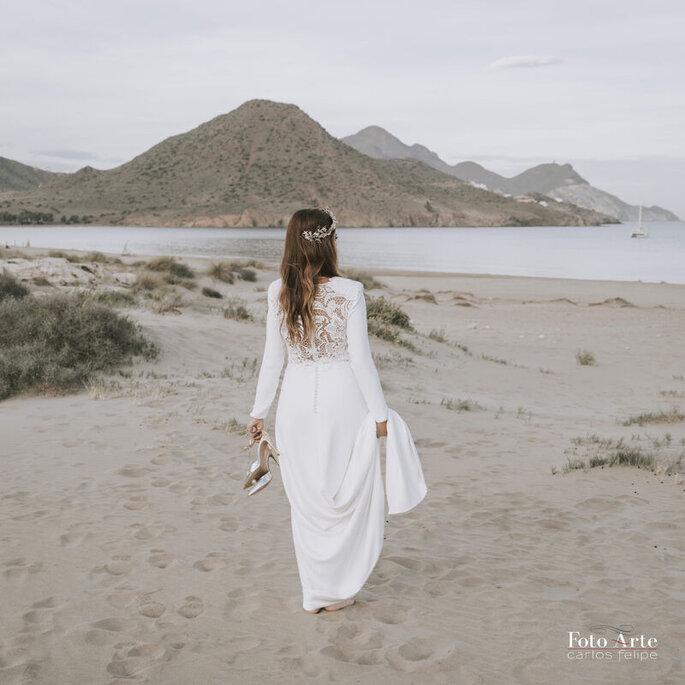 foto novia playa