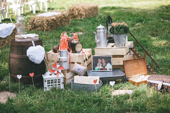 décoration champêtre- mariage en Indre-et-Loire