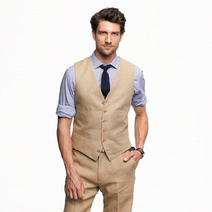 Traje masculino para ir a una boda de dia - Foto JCrew