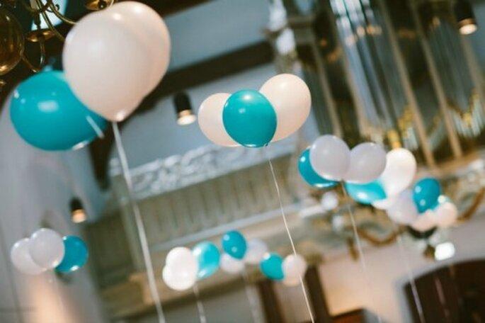 Dekorationen mit Luftballons sind besonders einfach – Foto: 2Rings Trouwfoto