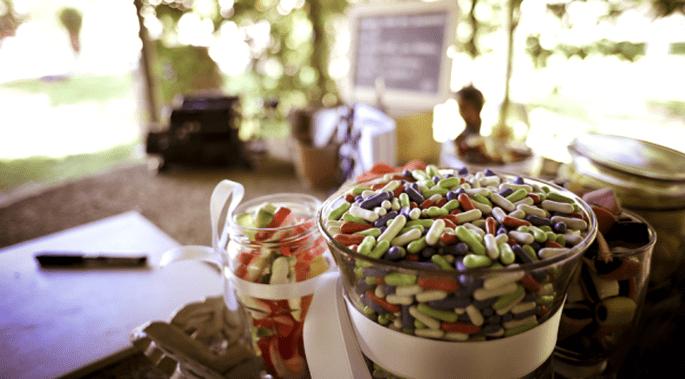 Candybar für Ihre Hochzeit. Foto: © Mélissa Lenoir