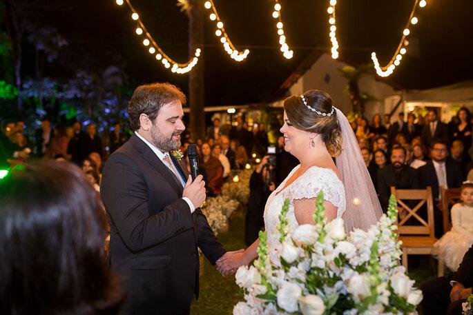 noivo recita votos de casamento
