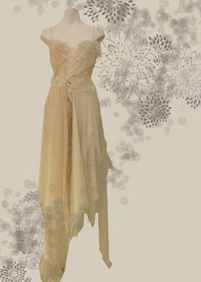Cherry Chau - Robe longue beige