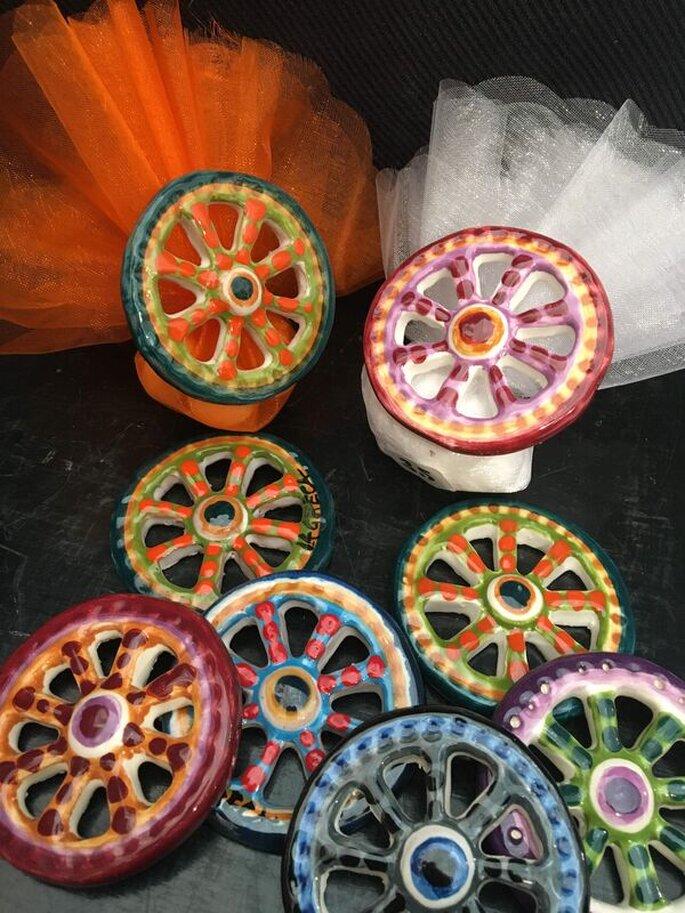 Maninterra Ceramica di Laura La greca - calamite ruote ceramica