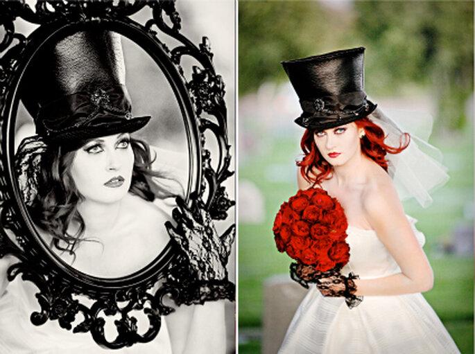 Hasta en Halloween puedes lucir bella y elegante. Foto: www.perfectboundblog.com