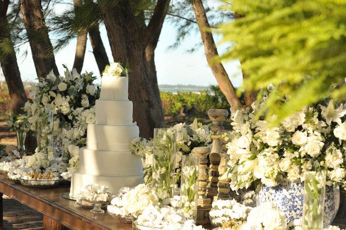 bolo clássico para casamento