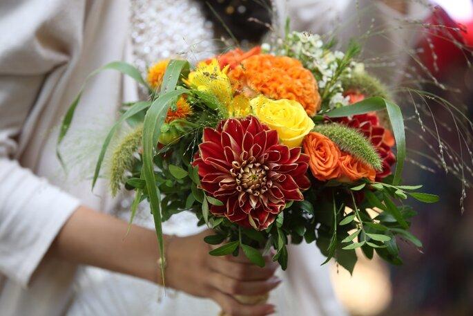 Bouquet de mariée colorée