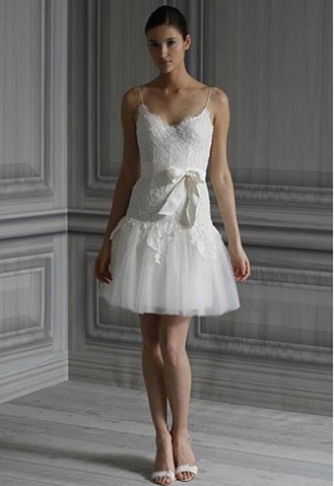 Robe de mariée courte Ballet  - Monique Lhuillier 2012